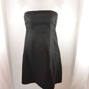 J. Crew Black Strapless Dress